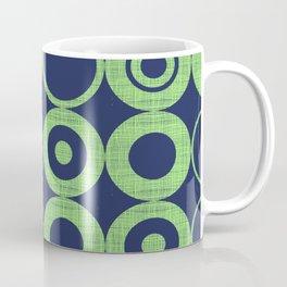 Green Bubbles on blue Coffee Mug