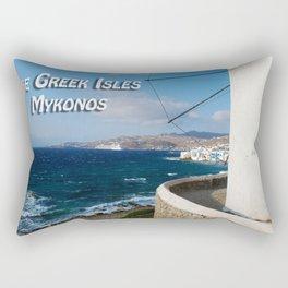 The Greek Isles - Mykonos Greece Rectangular Pillow