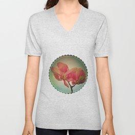 Vintage Spring Flowers Unisex V-Neck