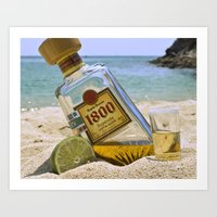 tequila Art Prints featuring Tequila! by brocoli art print