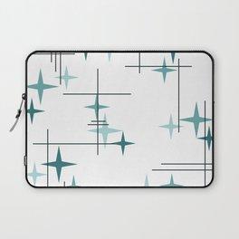 Mid Century Modern Stars (Teal) Laptop Sleeve