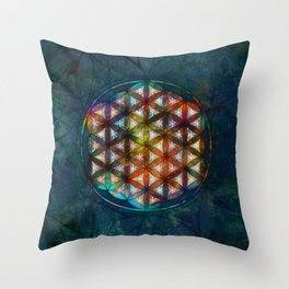The Flower of Life Symbol Throw Pillow