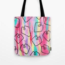 Heart Pattern Love Illustration Coloful Tote Bag