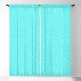 light blue child with lines Blackout Curtain