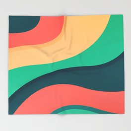 The river, abstract painting Throw Blanket