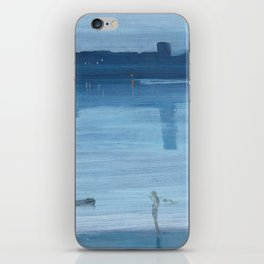 James Abbott McNeill Whistler - Nocturne- Blue and Silver iPhone Skin