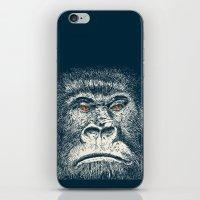 gorilla iPhone & iPod Skins featuring Gorilla by Lara Trimming