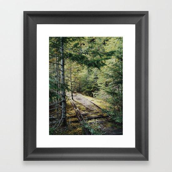 Abandoned Railroad Framed Art Print