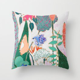 Speckled Garden Throw Pillow