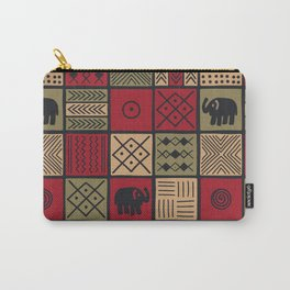 African Ethnic Textile 7 Carry-All Pouch