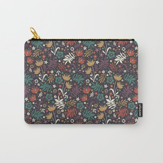 Midnight Florals Carry-All Pouch