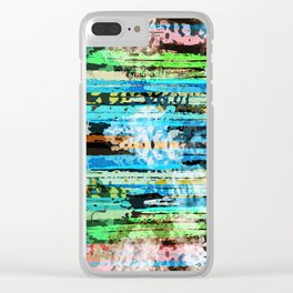 Egyptian hieroglyphs on textured background Clear iPhone Case