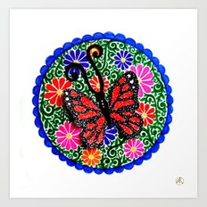 Red Butterfly Art Print