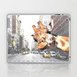 Selfie Giraffe in New York Laptop & iPad Skin