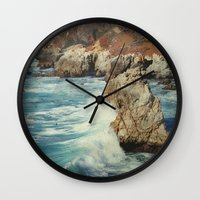 big sur Wall Clocks featuring Big Sur - Embrace me by Jenndalyn