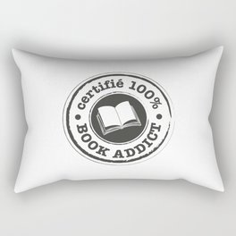 Certifié 100% Book Addict Rectangular Pillow
