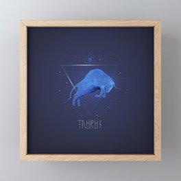 Hi tech Taurus sign symbol gifts for boys and girls. Zodiac symbols. Framed Mini Art Print