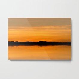 Sunset Salar de Uyuni 5 - Bolivia - Landscape and Rural Art Photography Metal Print