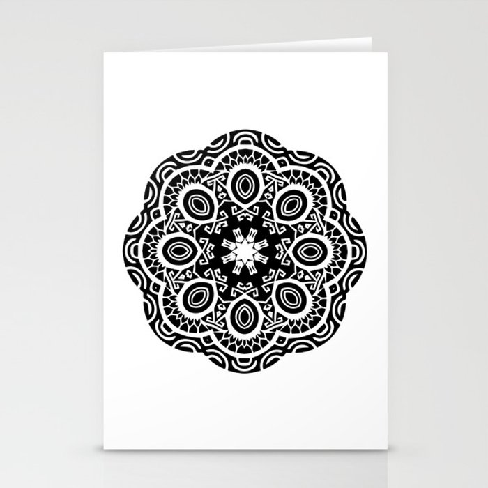 90fa54de3 Polynesian style mandala tattoo 2 Stationery Cards by annaki | Society6