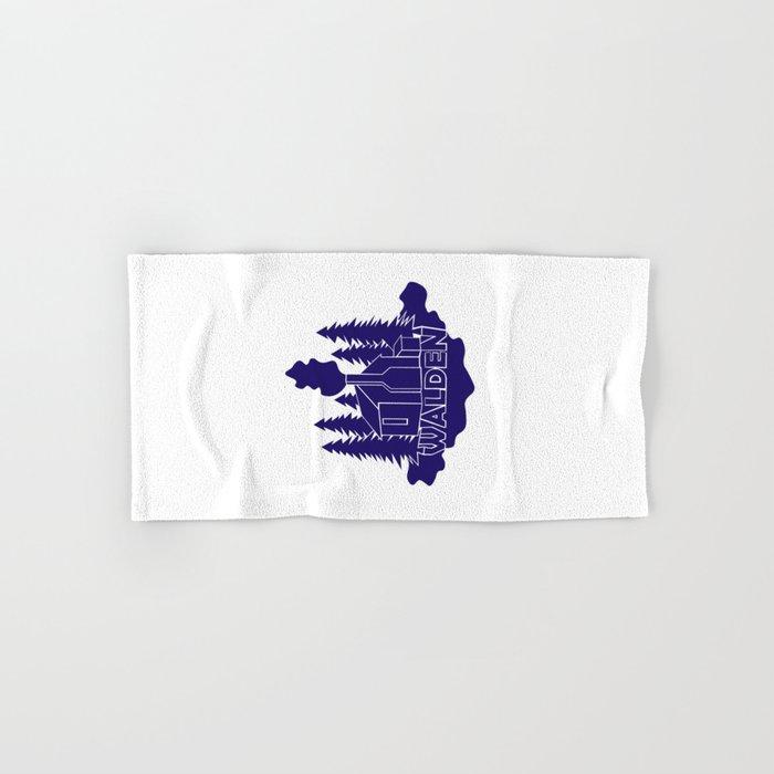 Walden - Henry David Thoreau (Blue version) Hand & Bath Towel