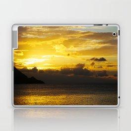 Sunset at Deshaies beach - Guadeloupe Laptop & iPad Skin
