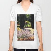lavender V-neck T-shirts featuring Lavender by Olivia Nicholls-Bates