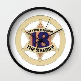 Sheriff Peyton (White) Wall Clock