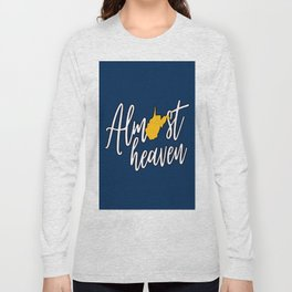 Almost Heaven West Virginia State Map Long Sleeve T-shirt
