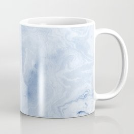 Yasuko - spilled ink japanese monoprint marble paper cell phone case with marble pattern blue pastel Coffee Mug
