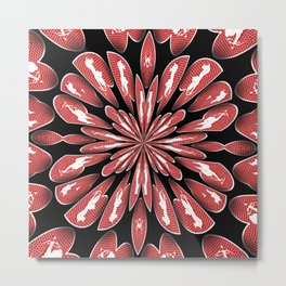 Cupid Kaleidoscope Metal Print
