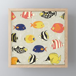 Tropical Reef Fish Framed Mini Art Print