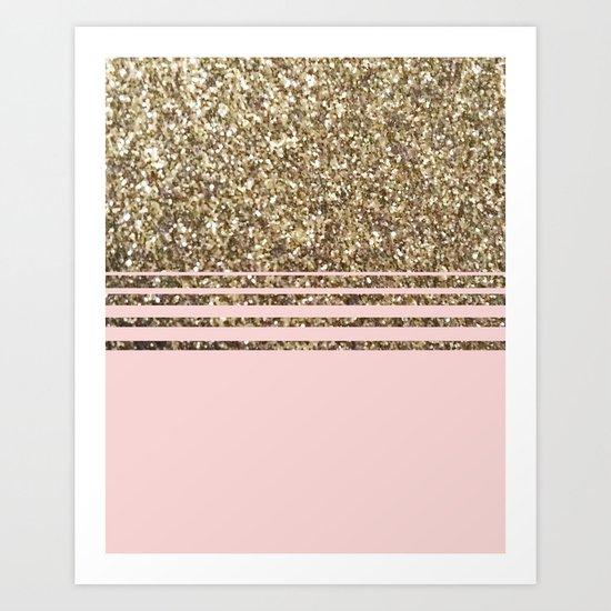 Glitter Pink Art Print