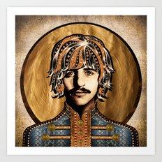 Boho Beatle ( Ringo ) Art Print