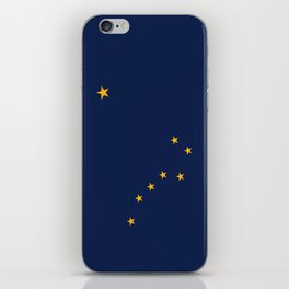Alaska State Flag, Authentic version iPhone Skin
