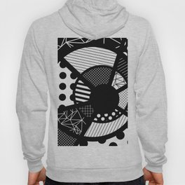 Twisted Web - Black And White, Patterned, Abstract Art Hoody