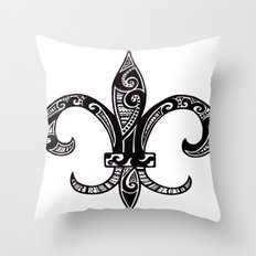 Fleur Di Lis  Throw Pillow
