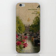 Amsterdam mon amour iPhone Skin
