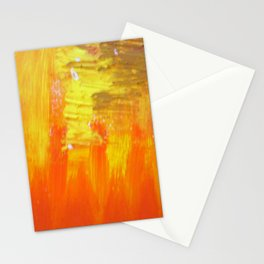 Aflood with gold and rose Stationery Cards