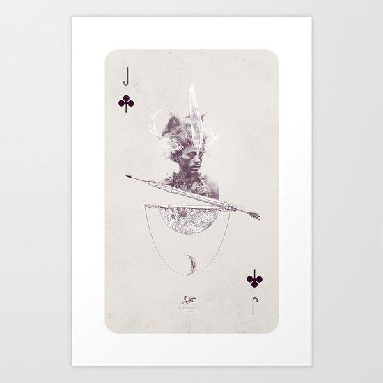 Jack of Clubs Art Print