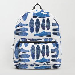 Blue Brogue Shoes Backpack