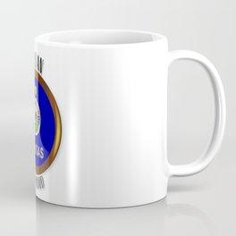 Kansas Proud Flag Button Coffee Mug