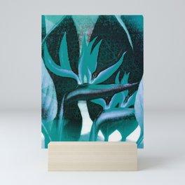 Floreal - Tropical Bird Of Paradise Flower Surrealism Mini Art Print