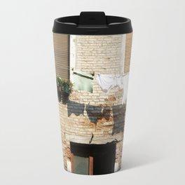 Venice Clothesline Shadows Travel Mug