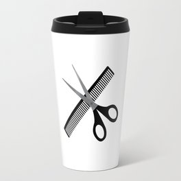 scissors & comb Travel Mug