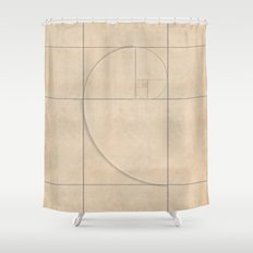 Golden Folding Shower Curtain