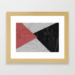 MARBLE TRIANGULES Framed Art Print