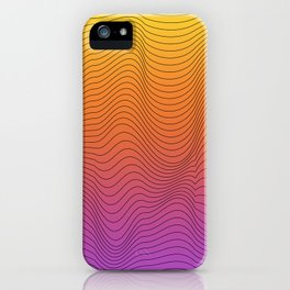 lines in the color iPhone Case