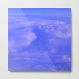 Aerial Blue Hues IV Metal Print