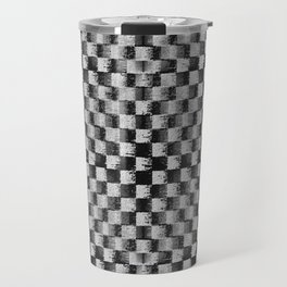 Edgy Checker (in shades of grey) Travel Mug