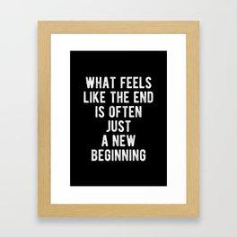 Inspiring - New Beginning Quote Framed Art Print